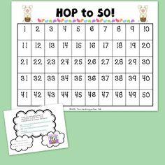 The Kindergarten Pod:  Free Math Center activity for Easter!