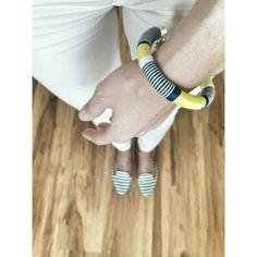 Handmade desig, yarn bracelet, jewelry www.ninojewelry.hu