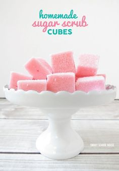 DIY Sugar Scrub Cubes! A quick and easy DIY gift idea.