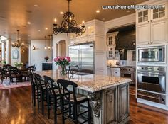 Beautiful luxury kitchen in LHM Colorado | Englewood, CO - Live the extraordinary life in this Mediterranean estate that is the essence of perfection!
