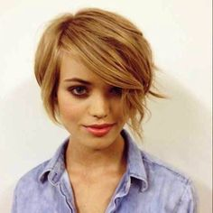 Love this edgy bob!