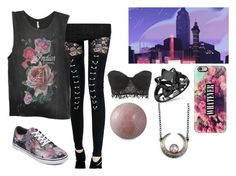 """""""{Roseline} Empire City"""" by coffeeismysoul ❤ liked on Polyvore featuring Spell & the Gypsy Collective, Vans, Casetify, Charlotte Russe and NOVICA"""