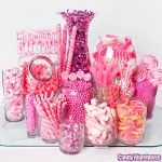 Pink candy buffet - something to keep in mind for my future daughters' birthdays