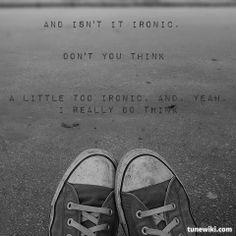 """-- #LyricArt for """"Ironic"""" by Alanis Morissette"""