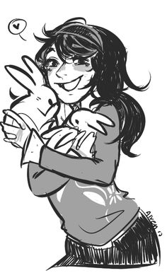 Young Kanny with some bunnies ~♥♥