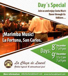Live marimba music in our restaurant in La Fortuna...