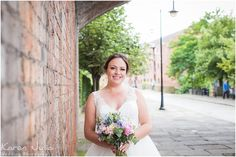 bride portrait in Castlefield underneath railway arches