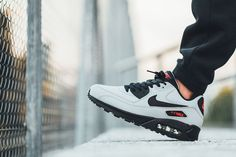 Nike Air Max 90 Essential Grey, Black Red - EU Kicks: Sneaker Magazine