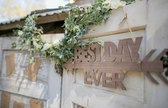Rustic Wedding Ideas: This rustic sign totally steals the show! (Photo by CHARD Photography on Wedding Chicks)