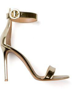 gold stiletto sandal