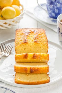 Easy Lemon Ricotta Pound Cake - Saving Room for Dessert Ricotta Pound Cake, Pound Cakes, English Pudding, Loaf Cake, Bread Cake, Cake Photography, Little Cakes, Cake Flour, Tea Cakes