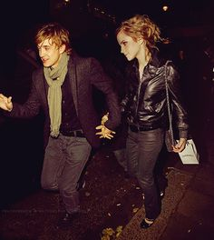 tom felton and Emma Watson. But comeon they will always be Draco X Hermione to us. Dramione, Tom Felton Emma Watson, Emma Watson Fan, Harry Potter Actors, Harry Potter Love, Scorpius Rose, Harry And Hermione, Ron Weasley, Well Dressed Men