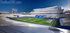 This is the NEW Commonwealth Stadium. They redid the stadium for the football season this year and it looks so good. Im really hoping that this will be our year for football. I heard they invested all that money in the stadium to get people to come to games even though our team isn't the best. Is that true? Did they spend all that money just to gain more fans?