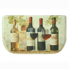 Wine Tasting Memory Foam Slice Kitchen Mat