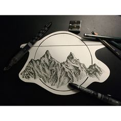 Micron Pen : Pointillism : Geometric Mountains : McKynann Grinwis
