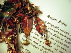Autumn's Splendor Lariat Necklace with by anvilartifacts on Etsy, $95.00