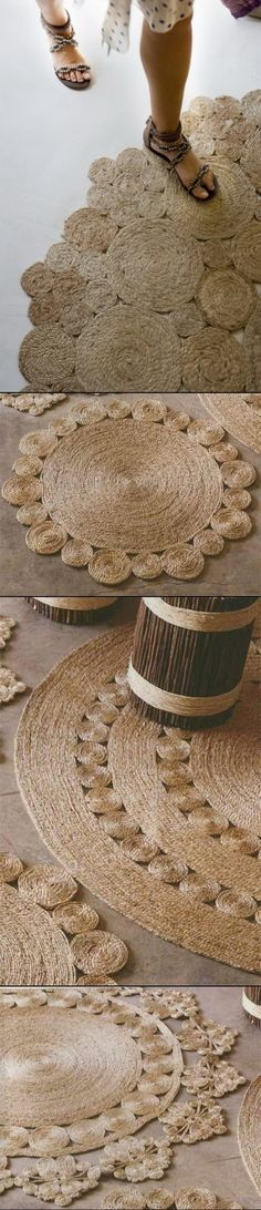 DIY Rug Rústico De La Cuerda