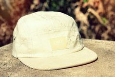 The Worlds Original Face  TWO Face London3rd Edition 5 panel cap, hat- Emroided cream floral cotton- Cream corduroy peak- Tan leather strap with gold buckleSupreme condition, only the best quality