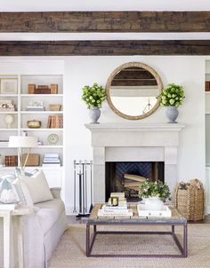 Farmhouse Living Room Decor Ideas - These Spectacular Living Spaces with Farmhouse Decoration will take your breath away. The shades, structure, devices will certainly inspire you for days! Modern Farmhouse Living Room Decor, Chic Living Room, Home Living Room, Living Room Designs, Living Spaces, Farmhouse Ideas, Rustic Farmhouse, Farmhouse Style, Fresh Farmhouse