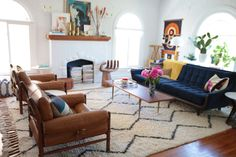 Styling: I really like the way this room is styled. It's relatively clean but has a lot of character and texture.