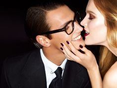 deep berry nails (Mirte Maas for Tom Ford Spring 2012 Campaign by Tom Ford)