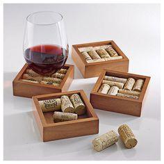 Wine Enthusiast Wine Cork Coasters Kit (Set of 4) #wine #winelover #wineandbar