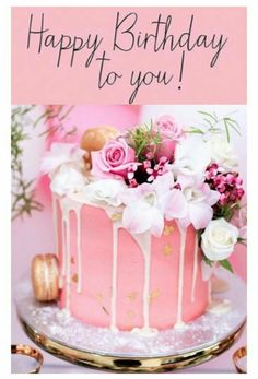 Pretty Photo of Birthday Wordings On Cake . Birthday Wordings On Cake Happy Birthday Happy Birthday Birthday Birthday Cake Cake Pretty Cakes, Beautiful Cakes, Amazing Cakes, Beautiful Desserts, Beautiful Flowers, Pink Happy Birthday, Happy Birthday Images, Cake Birthday, Birthday Wishes