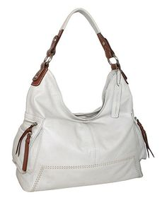 Look what I found on #zulily! Bone Molly Moo Leather Hobo by Nino Bossi Handbags #zulilyfinds