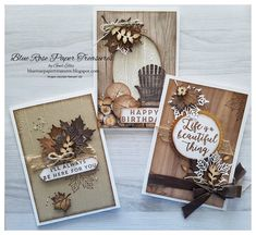 Blue Rose Paper Treasures: Tutorial Index Fall Cards, Holiday Cards, Scrapbook Christmas Cards, Leaf Cards, Stampinup, Stamping Up Cards, Thanksgiving Cards, Autumn Theme, Masculine Cards