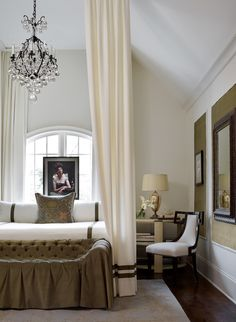 Bedroom. Musso Design Group in the Atlanta Homes & Lifestyles Designer Showhouse. Emily J. Followill photo.