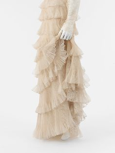 "Evening Ensemble  House of Chanel  (French, founded 1913)  Designer: Gabrielle ""Coco"" Chanel (French, Saumur 1883–1971 Paris) Date: 1936 Culture: French Medium: silk Dimensions: Total Length (shoulder to hem (a)): 57 1/2 in. (146.1 cm) Total Length (shoulder to hem (b)): 14 1/2 in. (36.8 cm)"