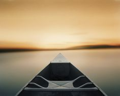 Paddling Toward a Single Point After Sunset, 2014, by Caleb Charland