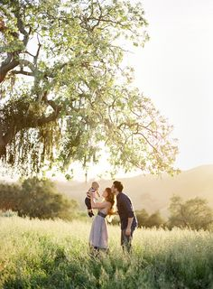 This is such a beautiful family shot.... Love the tree, too. (Photo by Jose Villa, one of my favorites!)