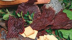 Our jerky is thinly sliced whole muscle jerky. We marinate our meat for 5 days before we put it in our smokehouses to dry. We offer buffalo and beef jerky in a number of delicious flavors! Deer Jerky Recipe, Venison Jerky Recipe, Jerky Marinade, Teriyaki Beef Jerky, Jerky Recipes, Bbq Beef, Beef Recipes, Smoked Hamburgers, Oven Jerky