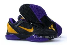 sports shoes 6c6b0 bbfbf Nike Zoom Kobe Vii Mens Black Purple Gold. Purple Basketball ShoesMen s ...