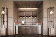 Reception Hotel Reception Desk, Reception Desk Design, Lobby Reception, Reception Counter, Lounge Bar, Hotel Lounge, Hotel Foyer, Hotel Lobby, Hotel Interiors