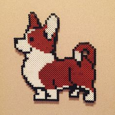 Perler bead Corgie Dog by from.lindsey.with.love