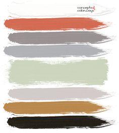 light taupe, burnt orange, warm gray, dove gray, sage green, copper brown, black, black and white, modern nursery, pantone nile green