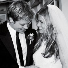 Brides.com: . Jennifer Aniston marries Brad Pitt in Lawrence Steele, 2000.
