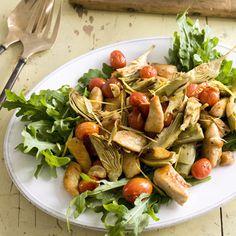 Roman Chicken Sauté with Artichokes #chickenrecipes