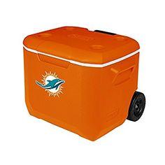 Coleman Company NFL Miami Dolphins Performance Cooler, 60 quart, Orange