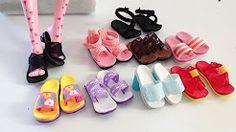 barbie shoes diy - YouTube