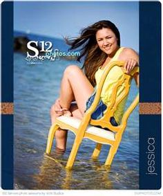 Love the yellow chair in the blue water. I want to take a senior picture like this:)