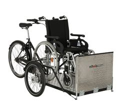 Flex - a safe and lightweight cargo bike for riding with wheelchairs
