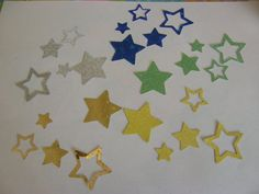 50 Spaceship Stars by ang744 on Etsy, $3.00