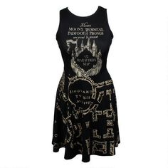 Harry Potter Marauder's Map Juniors Dress, $40  This would look very chic with a faux-leather jacket and some booties ; )