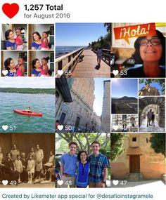 #InstagramELE  #Adiós al mes de agosto. Estas son las fotos más populares. Se ve que ha sido un mes divertido. Y ya preparados para el mes de septiembre.