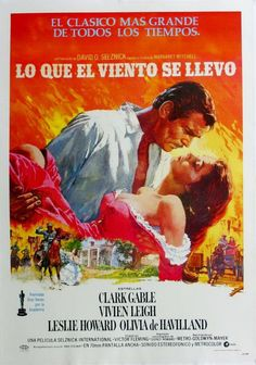 1976 Vintage Gone With The Wind Movie Poster Clark Gable and Vivien Leigh yqz Old Movie Posters, Classic Movie Posters, Cinema Posters, Film Posters, Classic Movies, Old Movies, Vintage Movies, Great Movies, Vintage Movie Stars