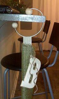 DIY stocking hanger!