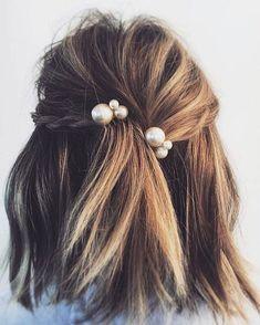 Pearl hair pins.